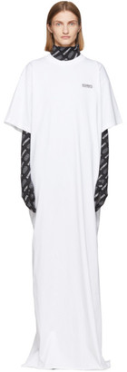 Vetements White STAR WARS Edition Character List T-Shirt Dress