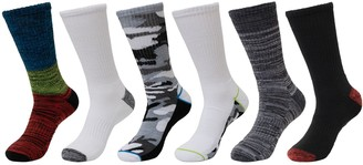 Tek Gear Men's Cushioned Performance Crew Socks (6-pack)