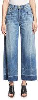 Current/Elliott The Wide Leg Crop Jeans w/Released Hem, Old Soul