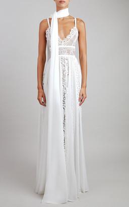 Elie Saab Lace Maxi Dress