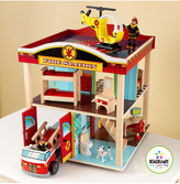 Kid Kraft Fire Station Rescue Deluxe Playset