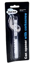 Chef Aid Can Opener with Corkscrew, Silver