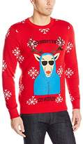 Alex Stevens Men's She Doesn't Even Go Here Ugly Christmas Sweater