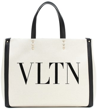 Valentino Grande Plage Medium VLTN canvas tote