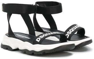 DSQUARED2 Logo-Print Sandals
