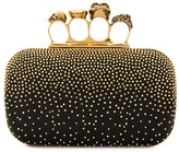 Alexander McQueen Four Ring studded clutch