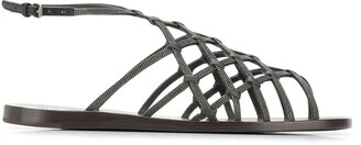 Brunello Cucinelli Embellished Strappy Sandals