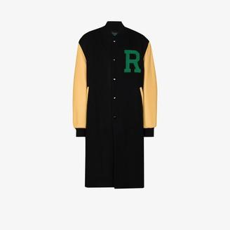 Raf Simons American longline letterman jacket