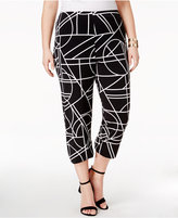 Alfani Plus Size Straight-Leg Cropped Pants, Only at Macy's