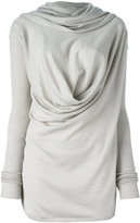 Rick Owens draped top - women - Virgin Wool - XS