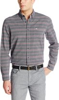 Dockers Long Sleeve Horizontal Stripe Chambray Cotton Shirt