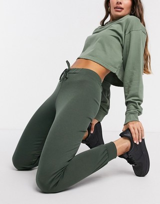 Street Collective mix and match high waisted trackies in khaki