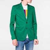 Paul Smith Men's Slim-Fit Green Mercerised-Cotton Stretch Blazer