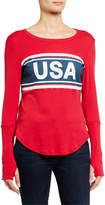 Chaser USA Graphic Long Sleeve Top