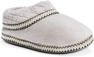 Muk Luks Womens Rita Micro Chenille Full Foot Slippers