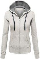 William&Lisa Womens Active Soft Zip Up Fleece Hoodie Sweater Jacket(7 Colors)