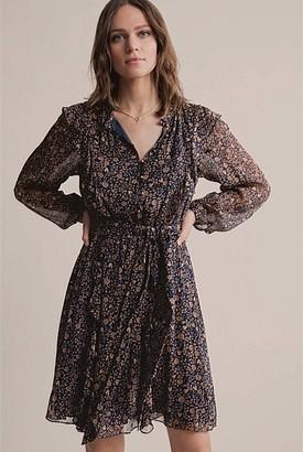 Witchery Ruffle Front Mini Dress