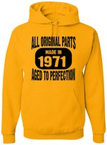 Go All Out Screenprinting Adult Made In 1971 All Original Parts Aged To Perfection Sweatshirt Hoodie