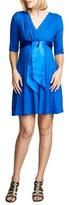 Maternal America Women's Tie Front Maternity Dress