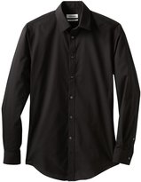 Calvin Klein Dual Tone Slim Fit Dress Shirt (15-15 1/2 32-33, )