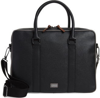 Ted Baker Textured Faux Leather Document Briefcase