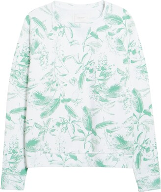 Lucky Brand Botanical Print Sweatshirt