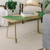 Viviana Gonzalez Agate Inspired Coffee Table East Urban Home Color: Green