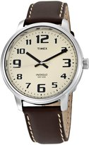 Timex Men's T28201 Brown Leather Easy Reader Watch