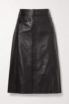 Saint Laurent Leather Skirt - Black