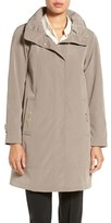 Gallery Petite Women's Silk Look A-Line Raincoat With Stowaway Hood