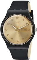 Swatch Unisex SUOB716 Originals Analog Display Swiss Quartz Black Watch