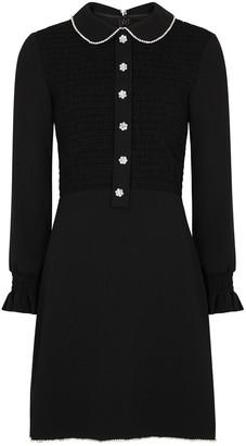 Marc Jacobs Black crystal-embellished mini dress