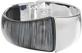Robert Lee Morris Grey & Silver Hinged Bangle Bracelet