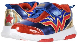Favorite Characters WWF311 Wonder Womantm Lighted Sneaker (Toddler/Little Kid) (Red/Blue) Girl's Shoes