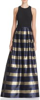 Aqua Striped-Skirt Gown - 100% Exclusive