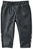 Baby Sara Infant Girls) Faux Leather Rhinestone Leggings