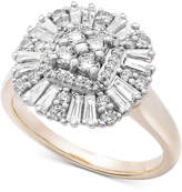 Wrapped in Love Diamond Cluster Ring (3/4 ct. t.w.) in 14k Gold, Created for Macy's