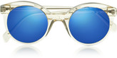 Illesteva White Chapel cat eye acetate sunglasses