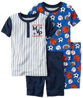 Carter's Boys 4-8 Baseball 4-Piece Pajama Set