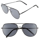 Quay Men's Living Large 61Mm Aviator Sunglasses - Black/ Smoke