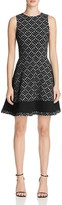 Aqua Geo Color-Block Dress