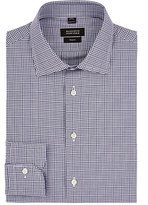 Barneys New York Men's Checked Cotton Dress Shirt-Blue