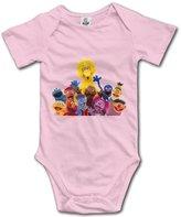 Vaoie Bodysuits Sesame Street Logo Unisex Short Sleeve Bodysuit Romper Jumpsuit Outfits For Baby
