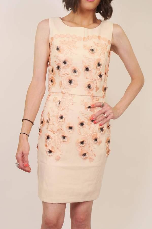 Minuet Peach Floral Dress