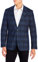 English Laundry Blue Plaid Corduroy Blazer