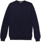 Lanvin Slub Merino Wool Sweater - Blue