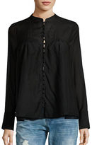 Free People Through and Through Shirred Blouse