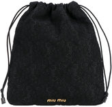 Miu Miu drawstring lace clutch