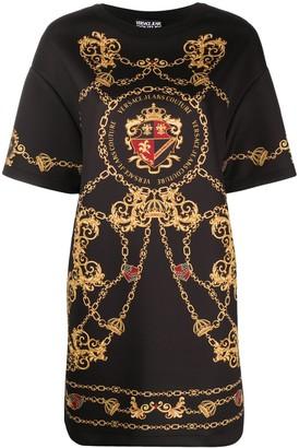 Versace Jeans Couture Logo-Print Short Dress