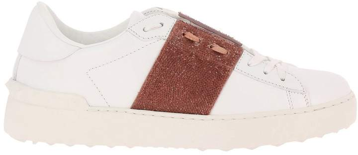 Valentino GARAVANI Sneakers Rockstud Sneakers Open With Maxi Tone-on-tone Studs And Crystal Rock Band